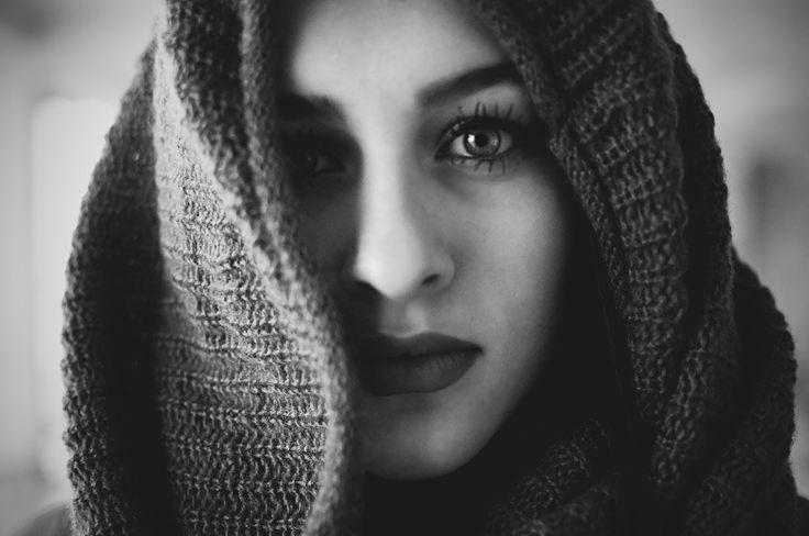 #portrait #eye #blackandwhite #woman #darkness #pinit