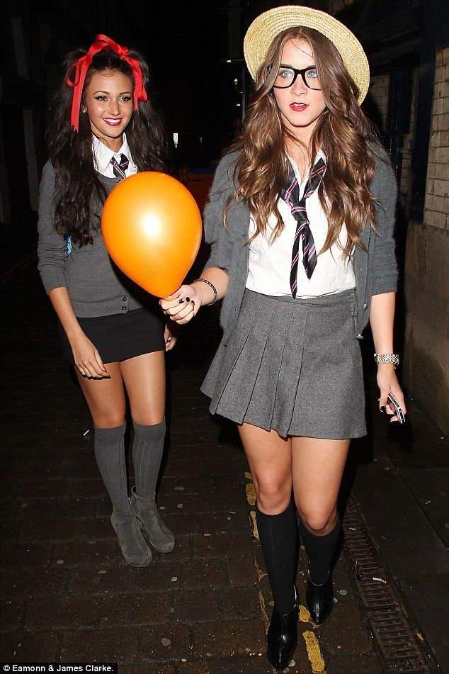 Michelle Keegan and Brooke Vincent as St Trinian party girls 🎈