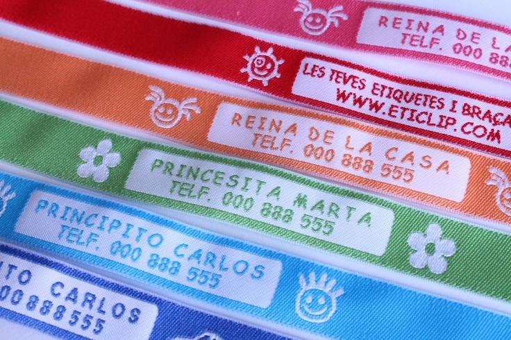Pulseras identificativas #niños - Polseres identificatives #nens http://etiquetasmarcarropa.es