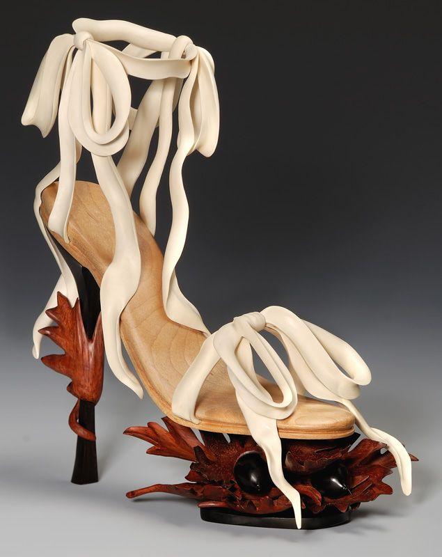 Ribbons shoe/ work of art