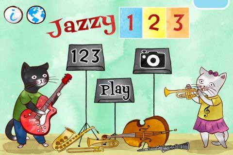 Jazzy 123 by the Melody Book  - educational app that introduces young children to basic numbers and music - FREE TODAY!