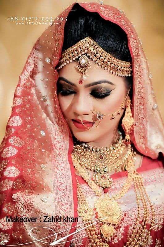 Bangladeshi bride#reception attire#zahid khan makeover ...