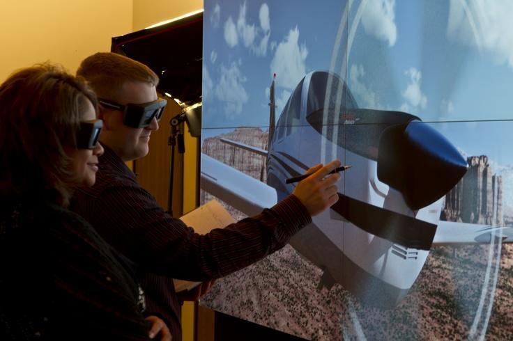 Barco OLS-521 stereoscopic led projection modules at the IGI Advanced Visualization Technology Showcase.