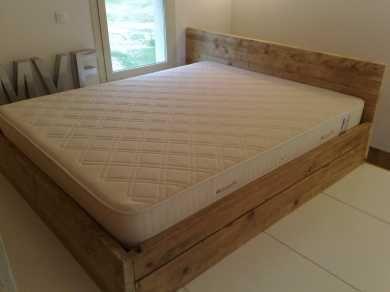wood bed frame simple
