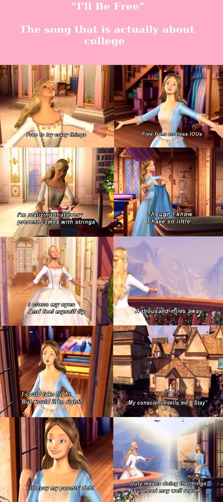 I watched this movie everyday for years!!!!!! OHMIGOOODNESS! And I know it's not disney its Barbie