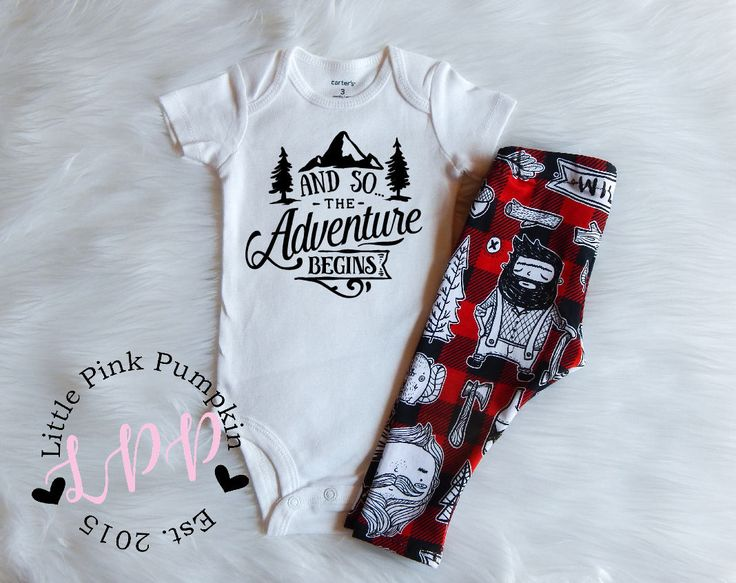 Baby Boy Clothes, And So The Adventure Begins, Wild One Outfit, Lumberjack Outfit, Hipster Baby Boy Clothes, Baby Shower Gift, Newborn Gift by LittlePinkPumpkin on Etsy
