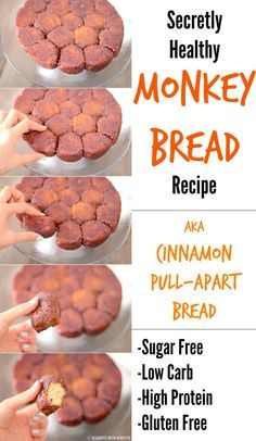 Healthy Low Carb Gluten Free Monkey Bread (sugar free, low carb, high protein, gluten free) - Desserts with Benefits
