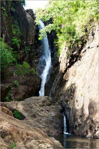 Khlong Phlu Waterfall at Ko Chang, Thailand
