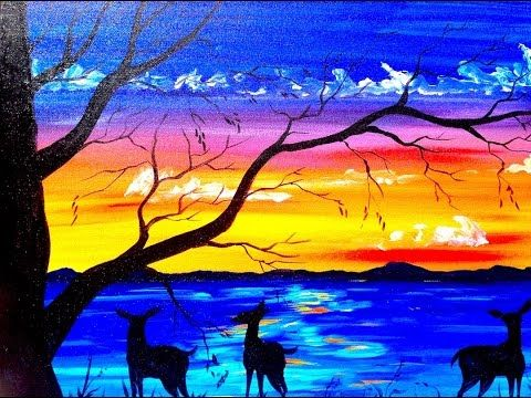 Landscape Art Drawing Acrylic Paintings