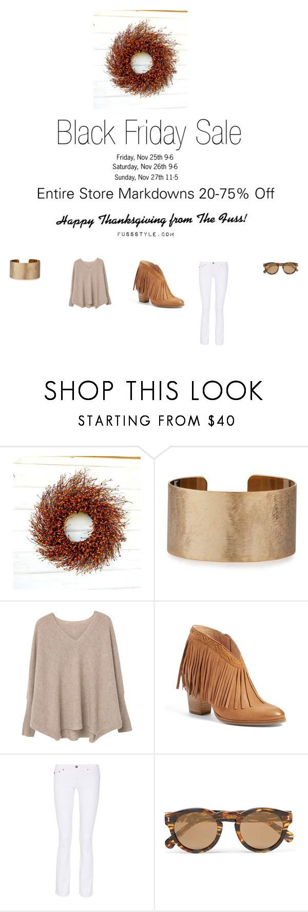 Black Friday 2016 by laurenspring-1 on Polyvore featuring MANGO, AG Adriano Goldschmied, Seychelles, Panacea and Illesteva