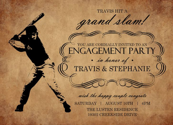 13 best Engagement party images on Pinterest Baseball mom, Cake - engagement invitation cards templates