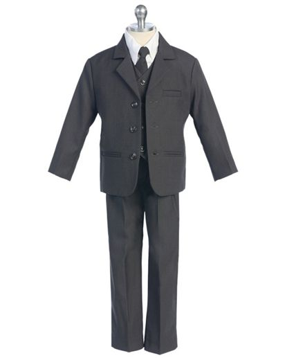 Boys charcoal grey suit at Kids Formal-Joshy :)