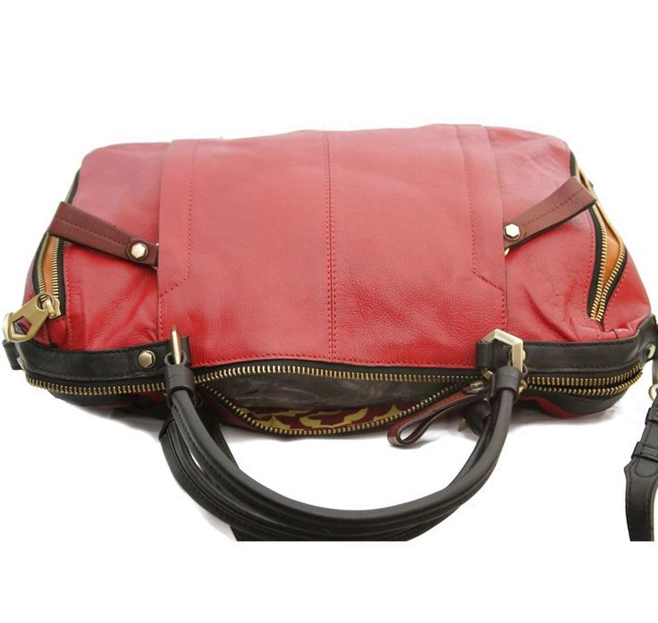 orYANY Zoey Pebbled Leather Satchel w/ Shoulder Strap Brick Multi HB-02166 $50.0