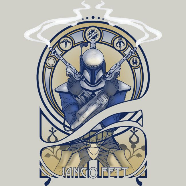 Jango Fett is a T Shirt designed by BCArtDesign to illustrate your life and is available at Design By Humans