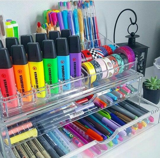 Repurpose makeup organizer for your markers, pens, highlighters and washing tape - Tap the Link Now to Shop Hair Products, Beauty Products and Kitchen Gadgets Online at Great Savings and Free Shipping!! https://getit-4me.com/
