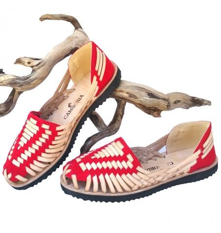 Red Huarache Sandals by Camboria. Ethnic & boho look