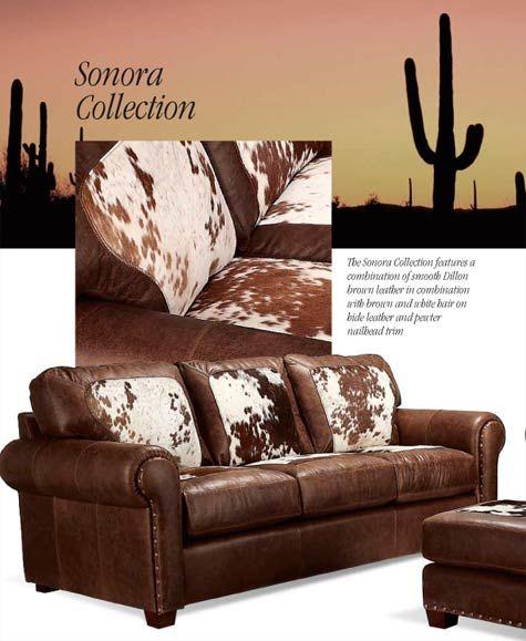 Western leather  sofa chair