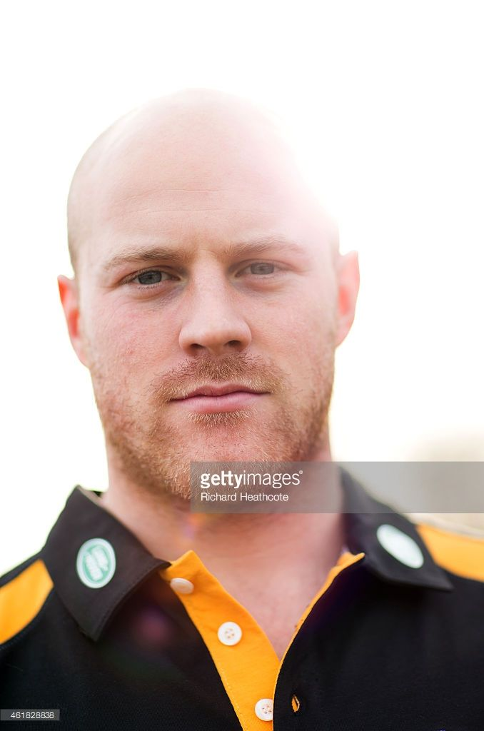Wasps Scrumhalf Joe Simpson poses for a portrait during a Wasps media session on January 20, 2015 in Acton, England.