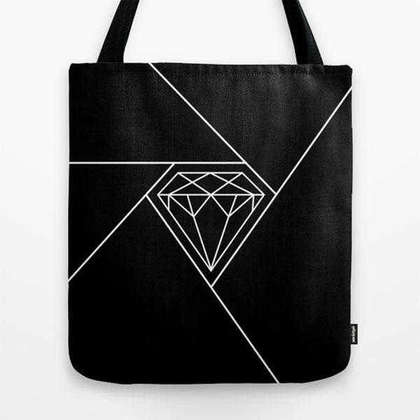 Shutter Diamond tote bag by Greypixels