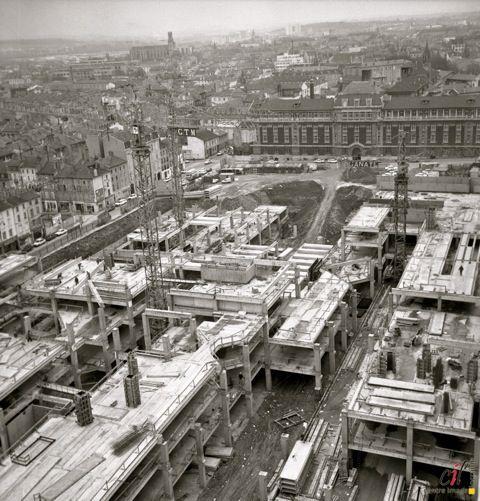 construction du centre commercial saint sébastien nancy