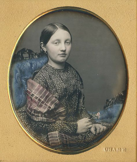"""daguerreotypeimages: """" LUCY JANE COMER! Her name was etched in the copper of the newly taped sixth plate. It was also written on one side of the paper tape. Plus, deliniated on the reverse around her identification was """"1847 US Boston"""" """""""
