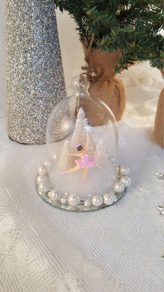 Ballerina Snowglobe Vintage Ballerina Ballet by pearlsandtulle
