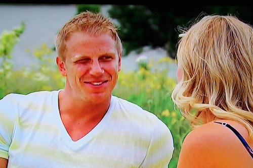 The one squinty eye, little mannerisms. Oh my God. My heart is melting. Sean Lowe <3
