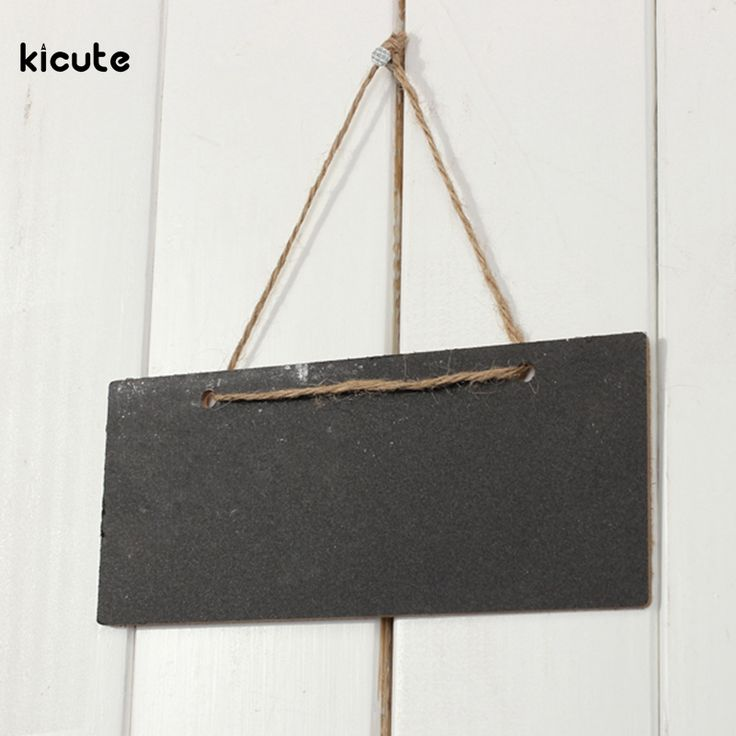 3Pcs Mini Wooden Blackboard Chalkboard With Hang String Message Notice Drawing Boarb Wedding Home Coffee Shop Decor 18.5*8cm