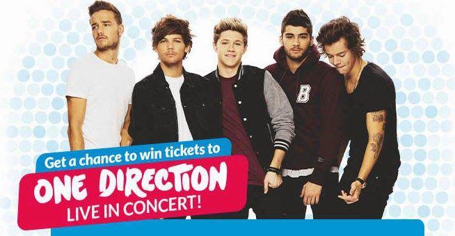 Free 3 Titanium Tickets to the One Direction Manila Tour 2015 - #Smart1D