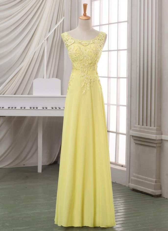 New arrival yellow lace evening dress,lace appliqued V