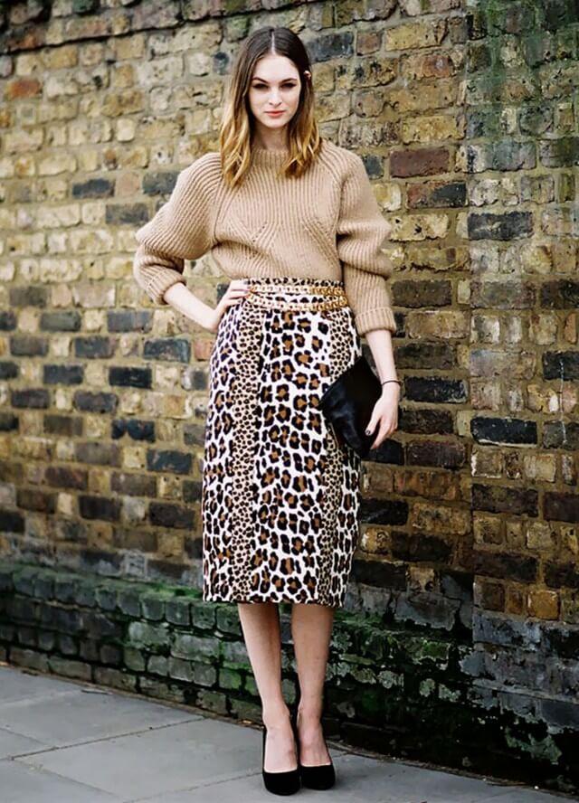 02c4b885fb0 С чем носить длинную леопардовую юбку  13 фото