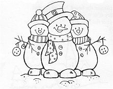 Frosty Friends Rubber Stamp