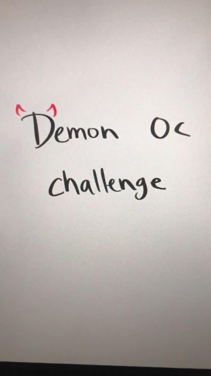 Bunnie Sleepiebunnie On Tiktok Demon Oc Challenge Demonocchallenge Demonoc Oc Challenge Artchallenge In 2021 Oc Challenge Art Challenge Fashion Design Drawings