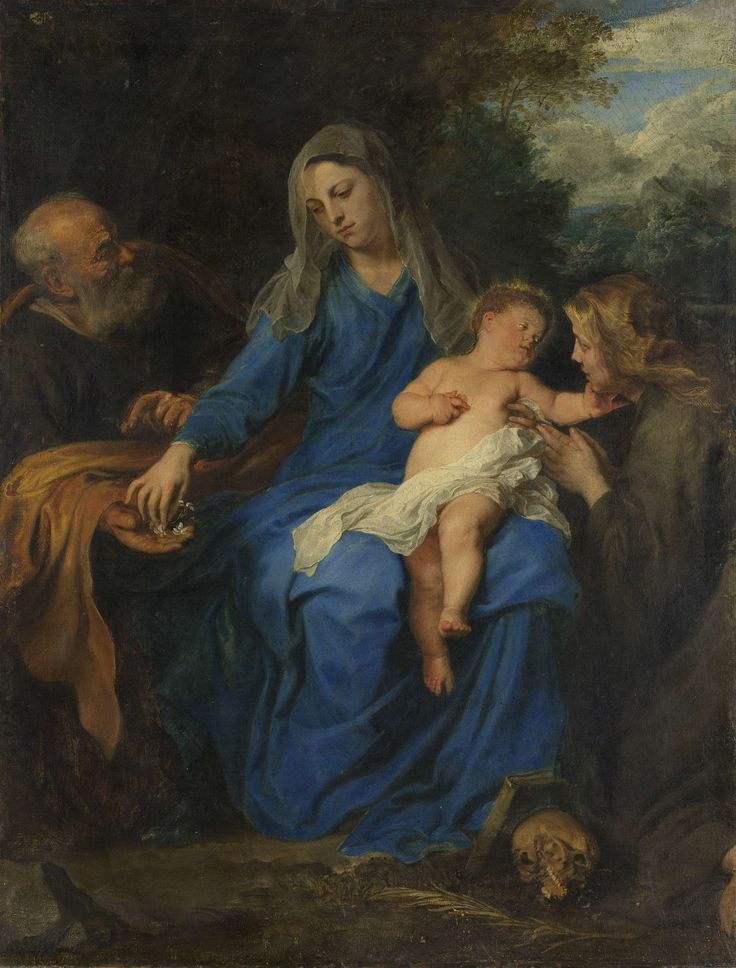 Holy Family with Mary Magdalene, manner of Anthony van Dyck, c. 1620 - c. 1700