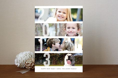 Stacked Photos New Year's Photo Cards - LOVE the simple, photo first style!