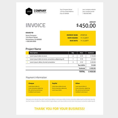 The 25+ Best Invoice Design Template Ideas On Pinterest Invoice   Invoice  Style  Invoice Style