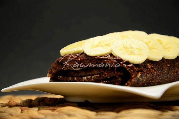 Raw čokoládová roláda s banánem
