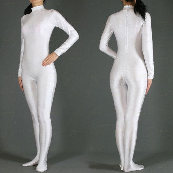 Wholesale Free Shipping Hot Selling Lycra Spandex White Zentai Full Bodysuit Halloween Fancy Cosplay Party Costumes Second Skin Suit online direct from China Factory - Factory Price Free Shipping.