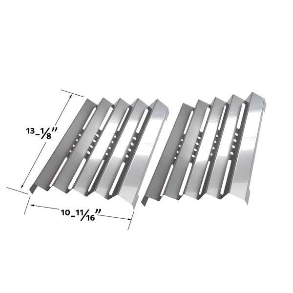2 PACK STAINLESS STEEL HEAT PLATE FOR FIESTA 16217, 16219, EEK5539-K401, EEK5547-K403 GAS GRILL MODELS  Fits Fiesta Models: 16217, 16219, EEK5539-K401, EEK5547-K403, EZD5555B413, Optima EZD5555B413, EZD5555-B413, FG50057, FG50069, FG50069S  BUY NOW @ http://grillrepairparts.com/shop/grill-parts/stainless-steel-heat-plate-for-fiesta-16217-16219-eek5539-k401-eek5547-k403-2-pk-gas-models/
