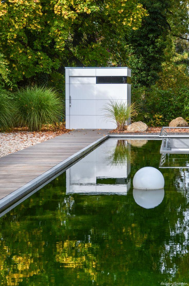 design gartenhaus @gart_eins by design@garten - münchen, germany #Gartenhaus #HPL #Gerätehaus