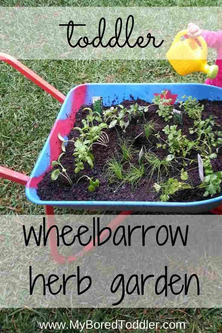 gardening with kids wheelbarrow herb garden - Vegetable Garden Ideas For Kids