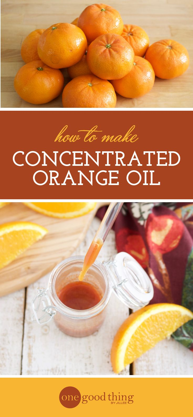 How To Make Concentrated Orange Oil For Cleaning - One Good Thing by Jillee