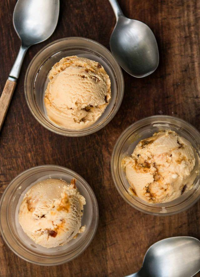One of my most-loved ice creams of all time - a creamy combination of caramel and salted butter, with little bits of caramel melting in the ice cream