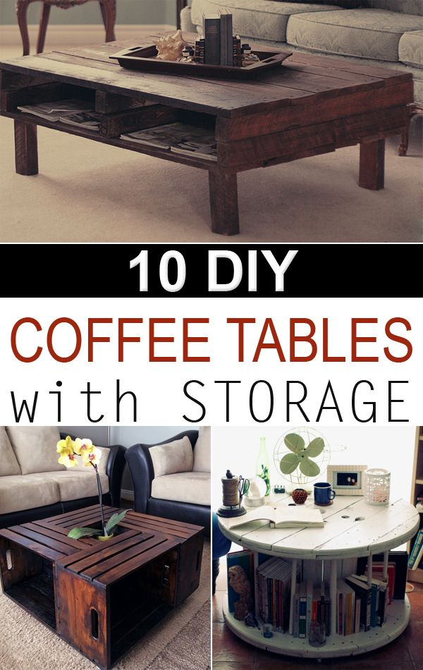 Great collection of interesting coffee tables you can build on a budget.