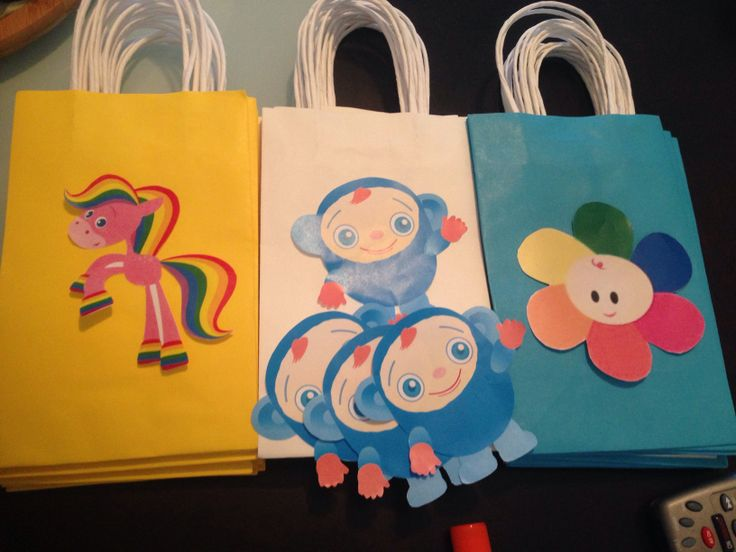 Homemade baby first tv candy bags! email me for prices!!! mikaelairis@yahoo.com...coming soon to etsy!