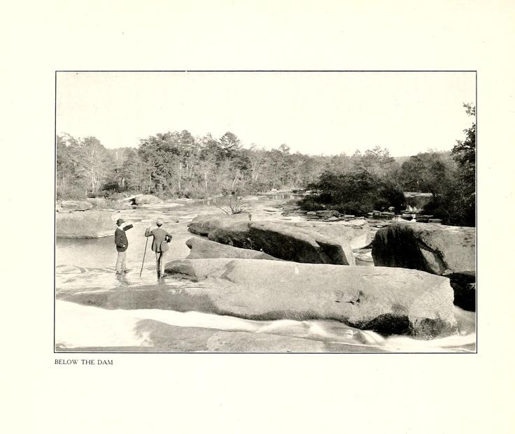 Bellow the Dam, High Shoals, NC, Gaston County, NC. In, High Shoals, Gaston county, N.C., a Southern cotton mill town. Charlotte, N.C. : Observer printing house. 1908.