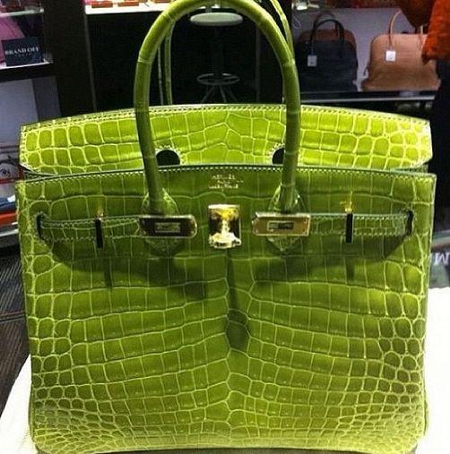 Love This Lime Green Crocodile Hermes..  2ec558b746001