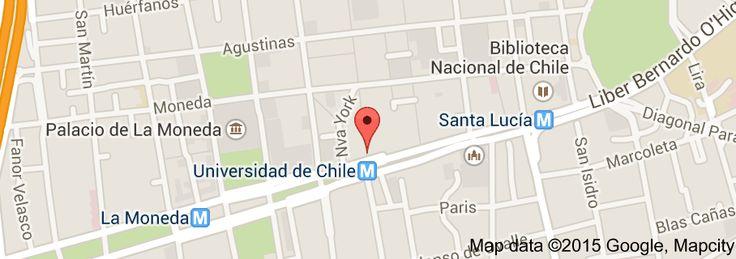 Map of BGA Gestión Inmobiliaria . Corredores de Propiedades. Administración Edificios . Ahumada 11 oficina 309. Correo : info@barredondo.cl Fonos  : 2-32054220 / 9-84694691