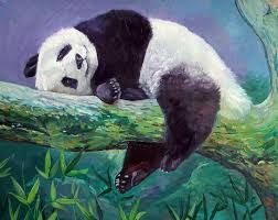Image result for painting panda