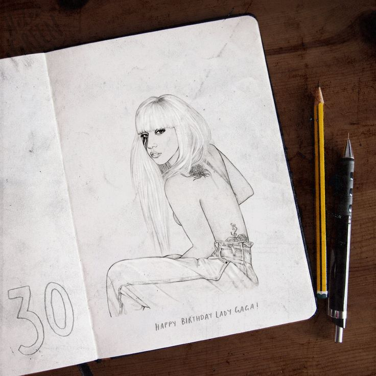 Happy Birthday Lady Gaga - GIF - Helen Green Illustration